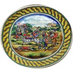 Piatto artistico a colombino